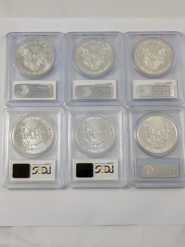 1986-2015 American Silver Eagles MS69