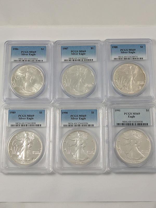 1986-2015 American Silver Eagles PCGS