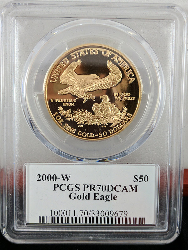 2000W Gold Eagle 4PC PR70 DCAM