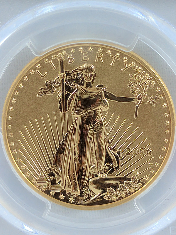 2006W Gold Eagle 20th Anniv PR70