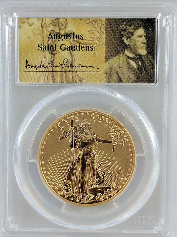 2006W Gold Eagle 20th Anniv St Gaudens