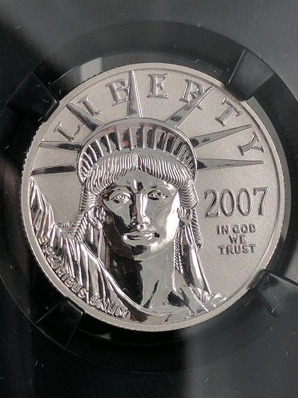2007W Reverse PF Platinum Eagle 10th Anniv NGC