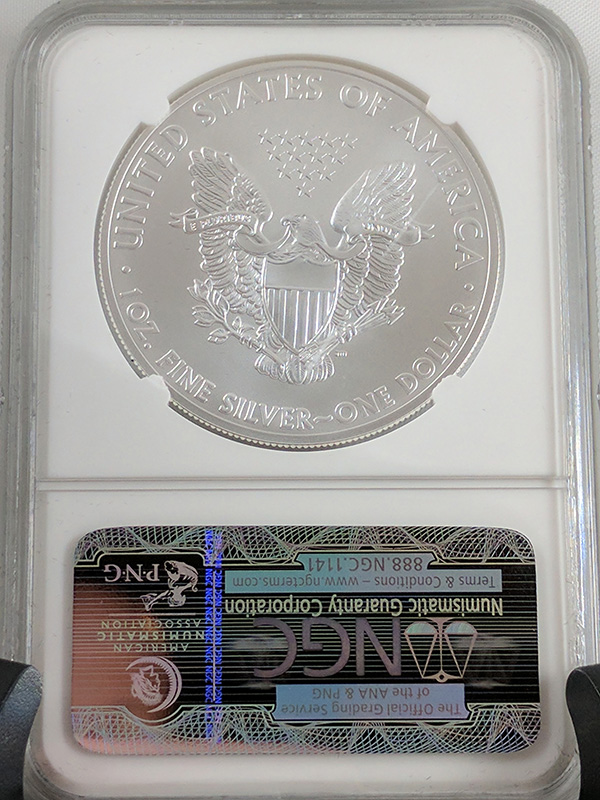 2011P Silver Eagle Reverse 25th Anniv 5PC Early Releases
