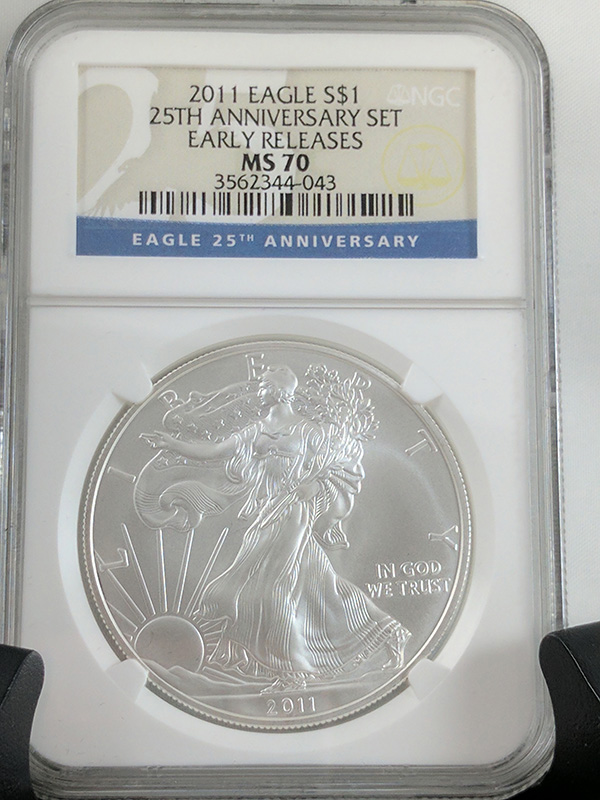 2011P Silver Eagle Reverse 25th Anniv 5PC NGC