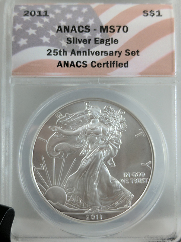 2011 Silver Eagle 25th Anniv 5PC ANACS