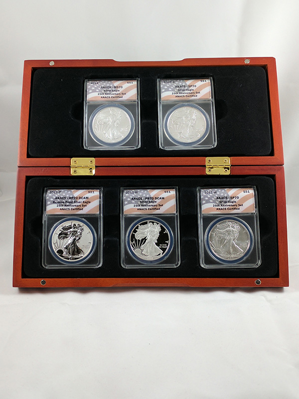 2011 Silver Eagle 25th Anniv 5PC