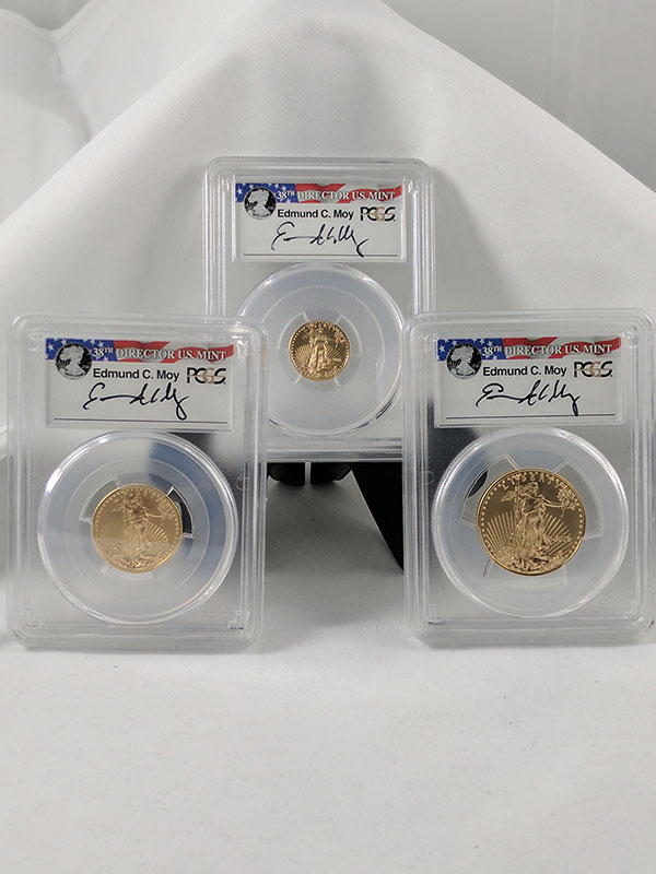 2016 Gold Eagle Frac 3PC 30th Anniv First Strike