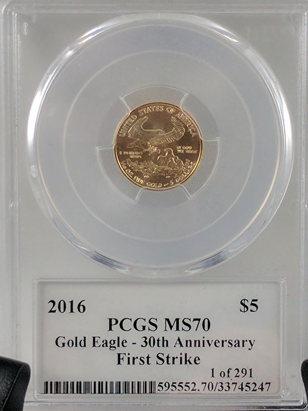 2016 Gold Eagle Frac 3PC 30th Anniv PCGS MS70
