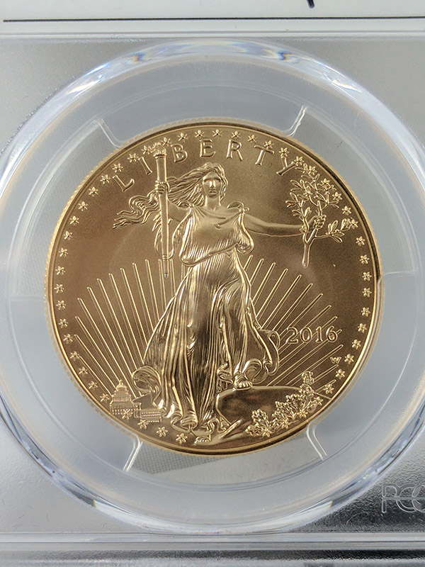 2016W Burnished Gold Eagle 30th Anniv First Strike