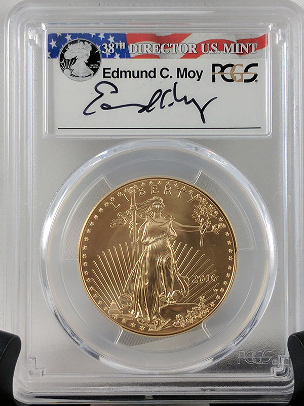 2016W Burnished Gold Eagle 30th Anniv Moy