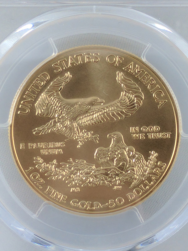 2016W Burnished Gold Eagle 30th Anniv PCGS