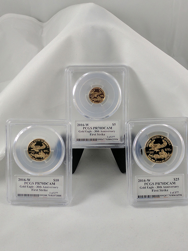 2016W Gold Eagle 30th Anniv 3PC PCGS