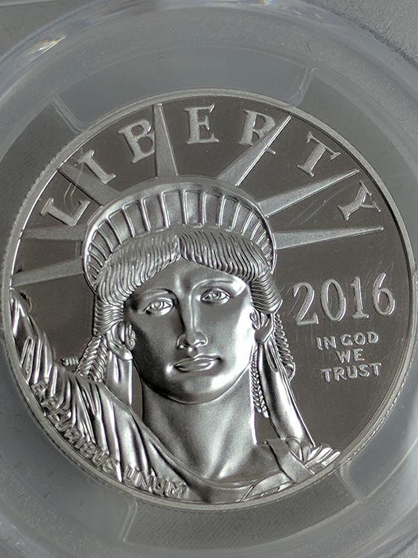 2016W Platinum Statue of Liberty PR70 DCAM