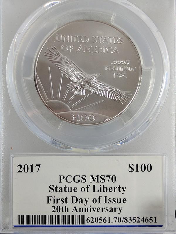 2017 Platinum Statue of Liberty 20th Anniv