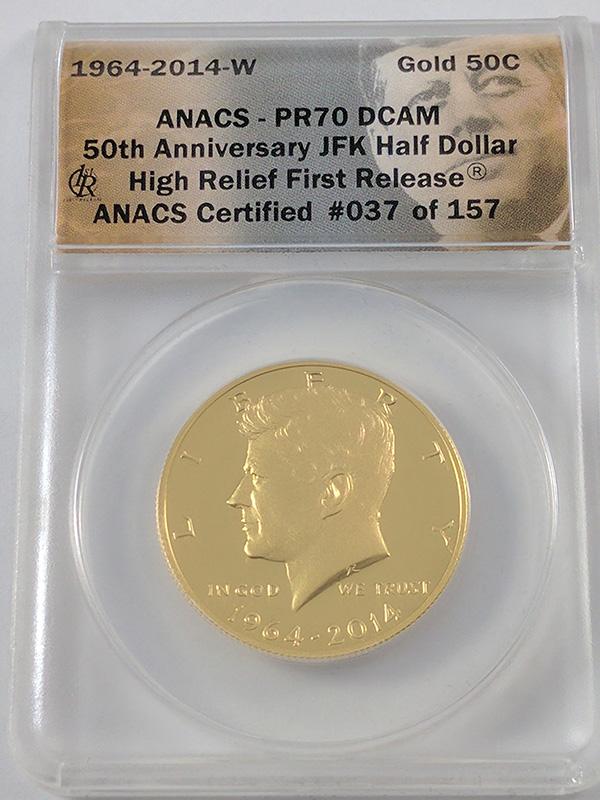 1964-2014W JFK 50th Anniversary Gold Half Dollar