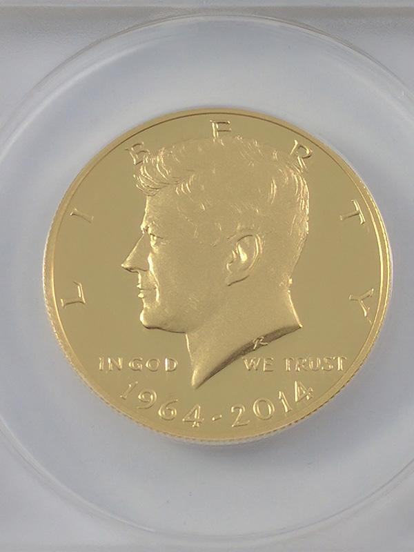 1964-2014W JFK Gold Half Dollar 50th Anniversary