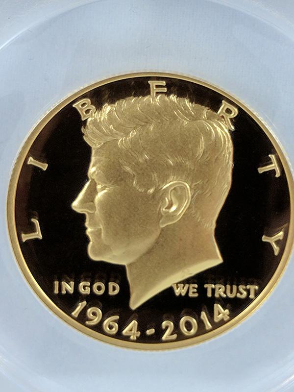 1964-2014W JFK 50th Anniversary ANACS Certified #33 Half Dollar