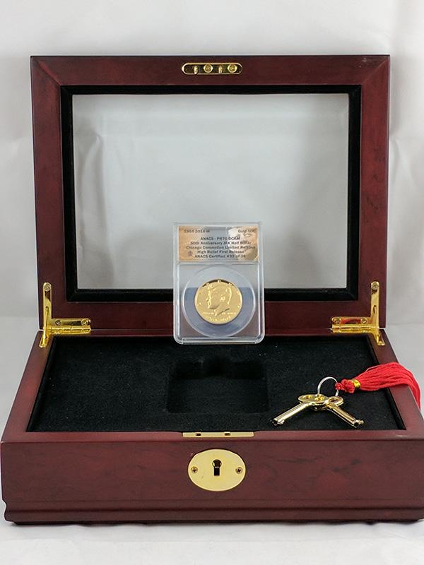 1964-2014W JFK Half Dollar 50th Anniversary Coin in Case
