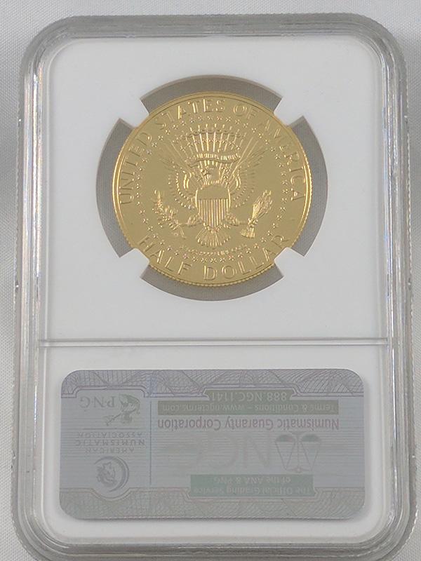 1964-2014W High Relief Struck Thru Gold JFK Mint Error Coin PF69 UC