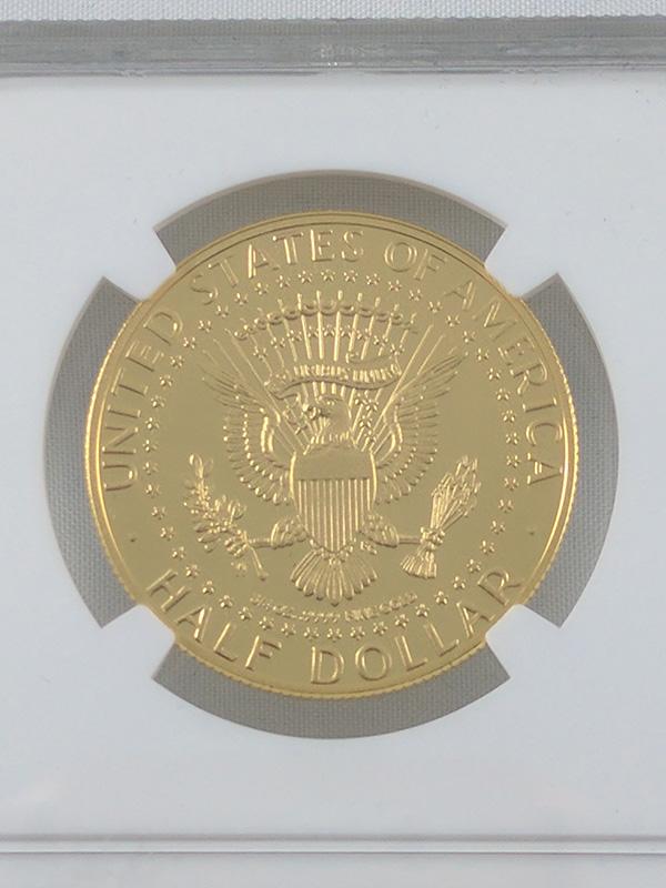 1964-2014W Mint Error Gold Coin PF69 UC JFK High Relief Struck Thru