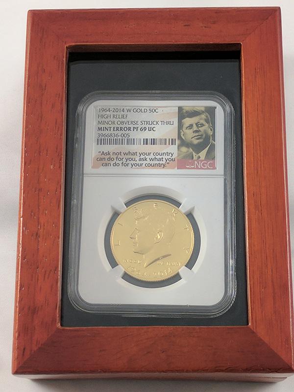 1964-2014W JFK Gold Mint Error Coin in Case