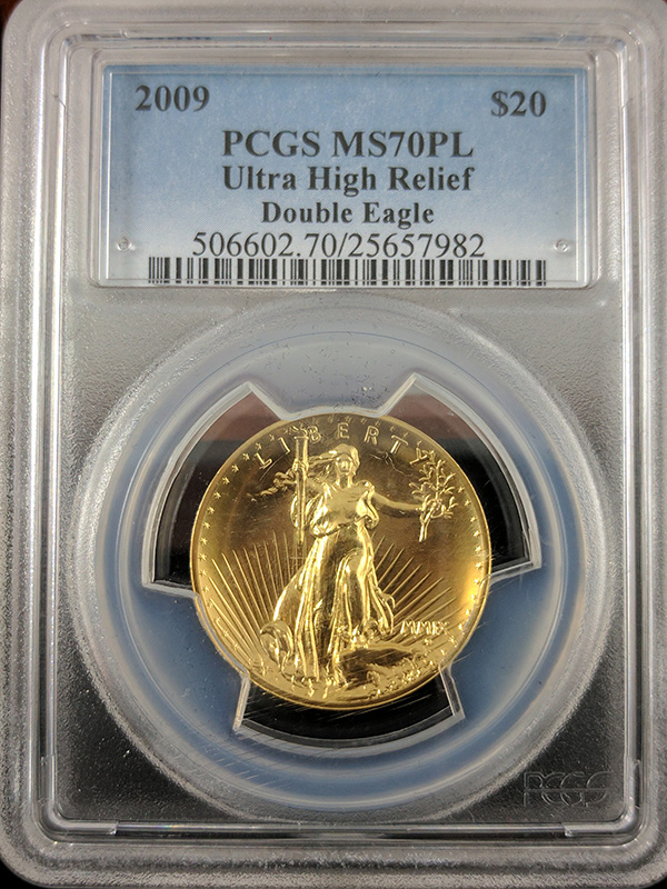 2009 $20 Ultra High Relief Double Eagle PCGS MS70PL