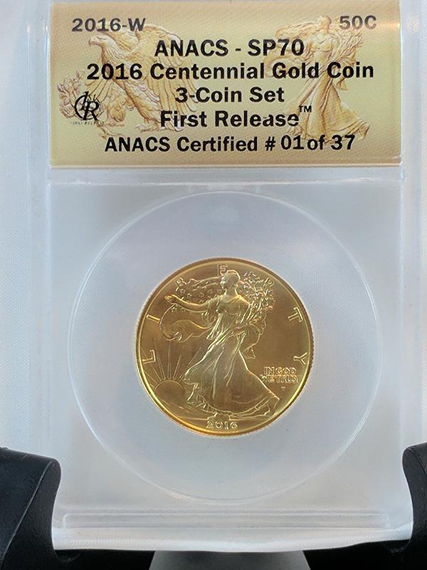 2016W ANACS Certified 01 Centennial Gold 3-Coin Set