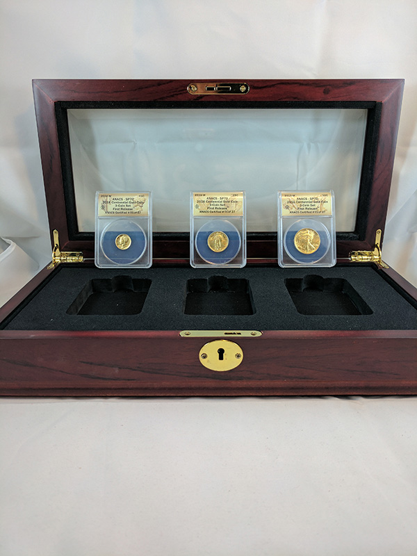 2016W 3-Coin Centennial Gold Set with Display Case